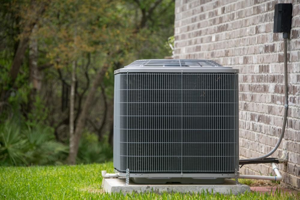 outdoor air conditioner unit in summer